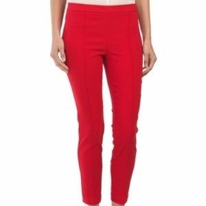 Dalia Red Pintuck Textured Pull On Pants